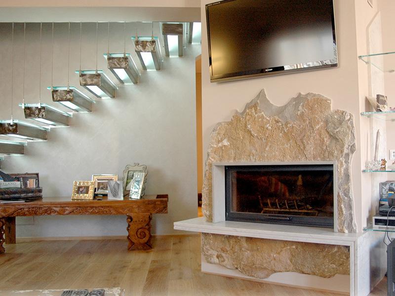 camino interno in pietra